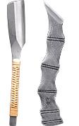 京都の京刃物「金高刃物老舗」の作品、日本剃刀と切出小刀