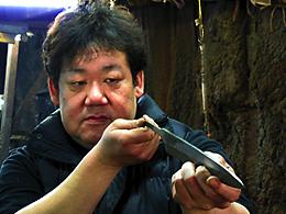 松尾刃物製作所 松尾義明 氏、家庭用・三徳包丁・180mm・白紙鋼